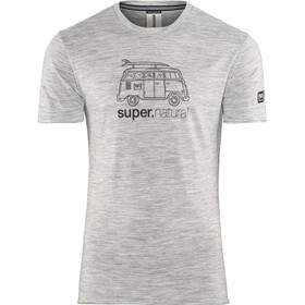 super.natural 140 Graphic Tee Herr ash melange/van print